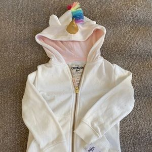Oshkosh unicorn kids jacket